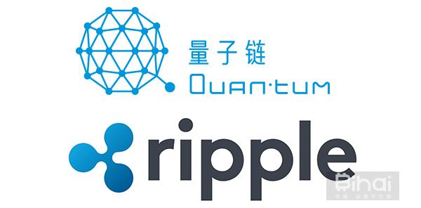 量子链与瑞波logo