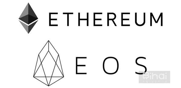 以太坊与EOS logo