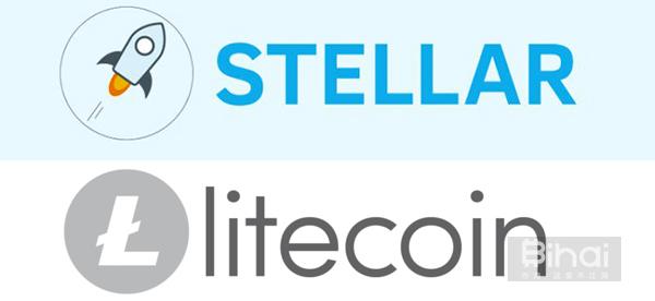 恒星币与莱特币logo