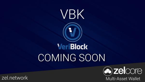 ZelCore添加了VeriBlock资产—在不同步链条的情况下存储您的VBK