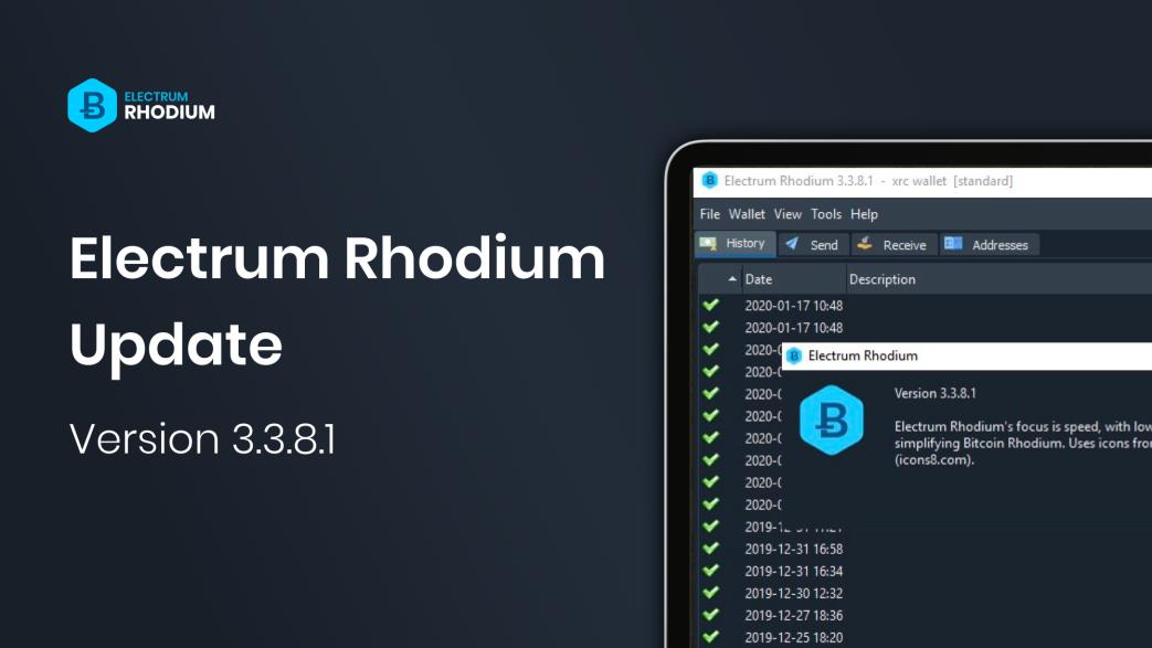 XRC 比特铑修复和改进,升级到3.3.8.1版本