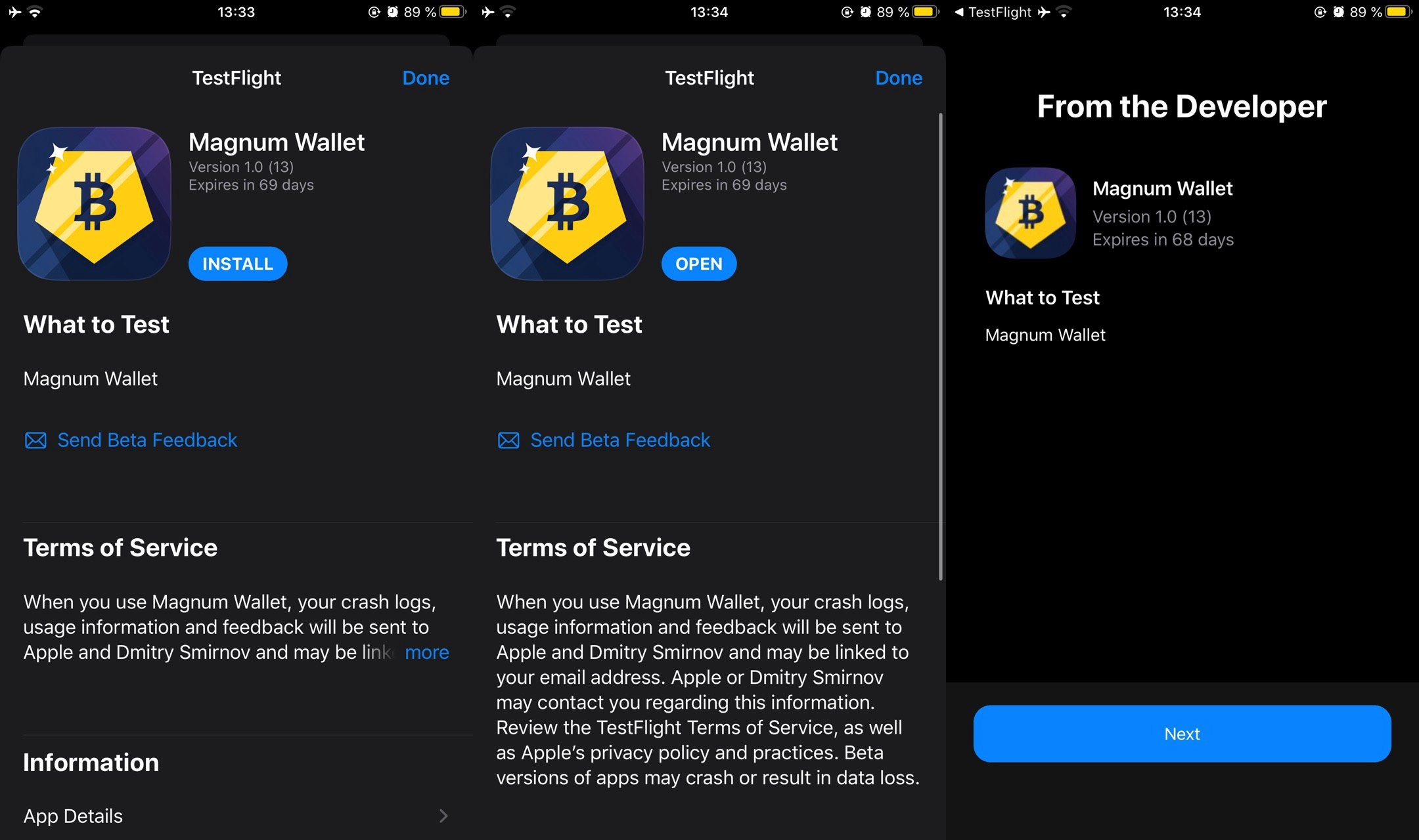 XRC如何通过Testflight安装Magnum Wallet IOS应用