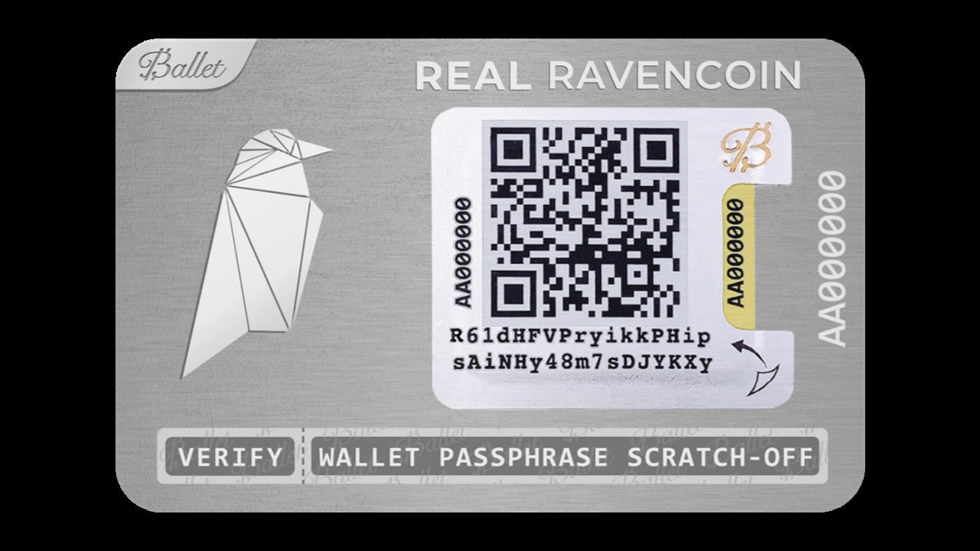 Ravencoin —在REAL Ravencoin芭蕾舞钱包上存储(和恢复)资产