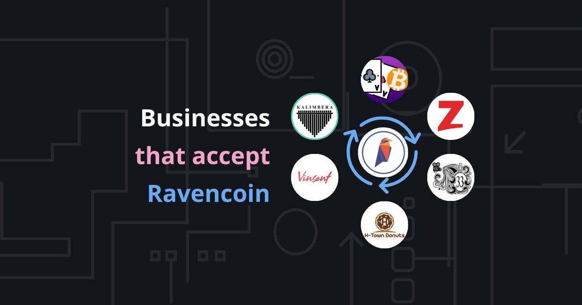 接受 Ravencoin 的地方