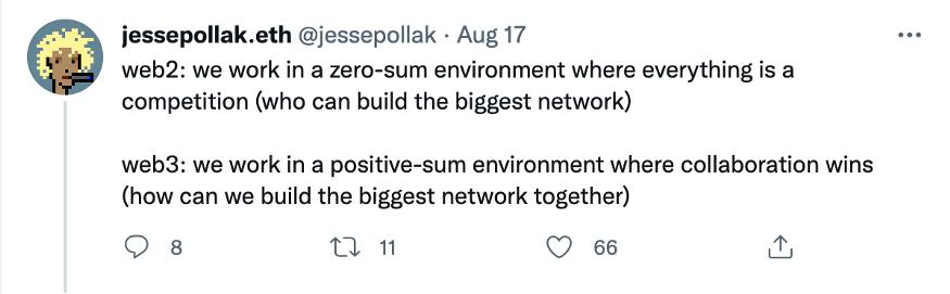 Web3 将由 Crypto 的网络协作驱动